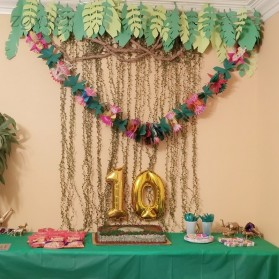 ZQNYCY Dekorasi Hiasan Cafe Wedding Ranting Daun Handmade DIY Artifical Vine 200m - BB480 - Green - 11