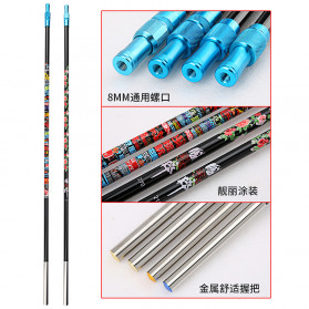 Zhanjiang Joran Pancing Carbon Fiber Fishing Rod 2.7 Meter - ZHN02 - Black - 4