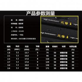 Zhenyi Joran Pancing Carbon Fiber Telescopic 2.4M - ZH03 - Black - 10