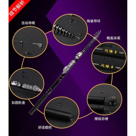 Zhenyi Joran Pancing Carbon Fiber Telescopic 2.4M - ZH03 - Black - 4