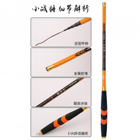 Zhanjiang Joran Pancing Carbon Fiber Fishing Rod 2.4 Meter - ZHN01 - Black - 10