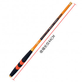 Zhanjiang Joran Pancing Carbon Fiber Fishing Rod 2.4 Meter - ZHN01 - Black - 2