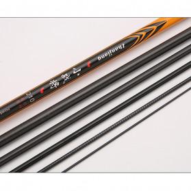 Zhanjiang Joran Pancing Carbon Fiber Fishing Rod 2.4 Meter - ZHN01 - Black - 6