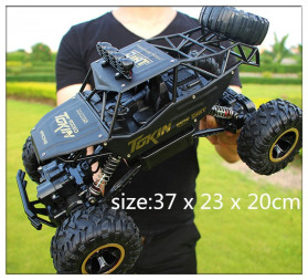Rock Crawler Monster Truck Bigfoot RC Remote Control 1:12 4WD 2.4GHz - XY-6255 - Black - 2