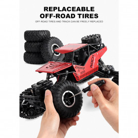 Rock Crawler Monster Truck Bigfoot RC Remote Control 4WD 2.4GHz - 5190 - Red - 8