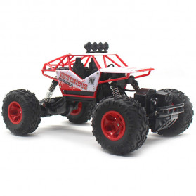 Rock Crawler Monster Truck Bigfoot RC Remote Control 4WD 2.4GHz - 5190 - Red