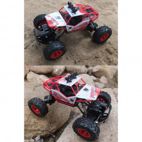 Rock Crawler Monster Truck Bigfoot RC Remote Control 4WD 2.4GHz - 5190 - Red - 2