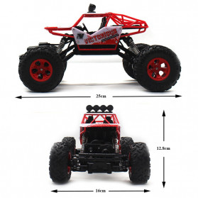 Rock Crawler Monster Truck Bigfoot RC Remote Control 4WD 2.4GHz - 5190 - Red - 3