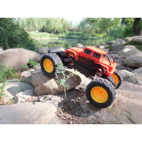 Rock Crawler Monster Truck Bigfoot RC Remote Control 4WD 2.4GHz - 5190 - Red - 5