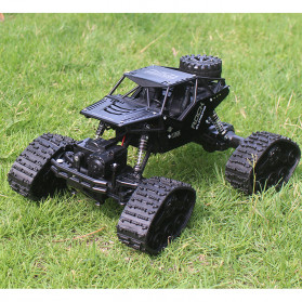 Rock Crawler Military Truck Bigfoot RC Remote Control 4WD 2.4GHz - 5200 - Black