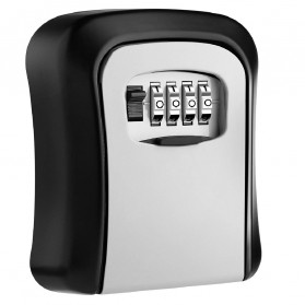 MOOL Kotak Brankas Safety Box Dinding Wall Mounted 4 Digit Password - ML4 - Black