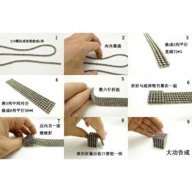 MINOCOOL Mainan Magnetic Stick Bucky Balls Steel 3MM - TH007005A - Silver - 4