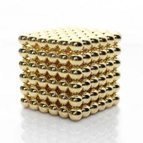 MINOCOOL Mainan Magnetic Stick Bucky Balls Steel 3MM - TH007005A - Golden - 1