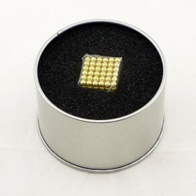 MINOCOOL Mainan Magnetic Stick Bucky Balls Steel 3MM - TH007005A - Golden - 3