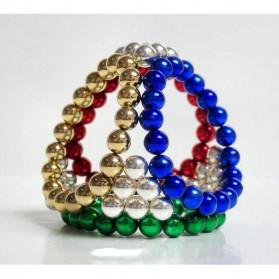 MINOCOOL Mainan Magnetic Stick Bucky Balls Steel 3MM - TH007005A - Golden - 5