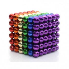 Fidget Toy - MINOCOOL Mainan Magnetic Stick Bucky Balls Steel 5MM - TH007005A - Multi-Color