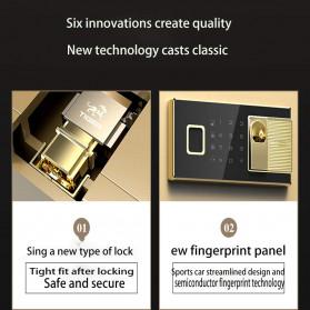 Foorsun Brankas Safe Deposit Box Password Fingerprint 25cm - PS-025 - Black - 3