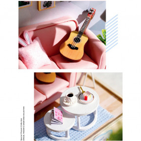CUTEBEE Miniatur Rumah Boneka Cute Doll Room 3D DIY - H017 - White - 3