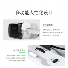 Shinecon 3D VR Box Virtual Reality Glasses 3D Headphone for 4-6 Inch Smartphone - SC-G08 - White - 5