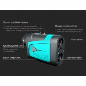 Mileseey Teropong Golf Jarak Laser Rangefinder 600M 6X - PF210 - Blue - 9
