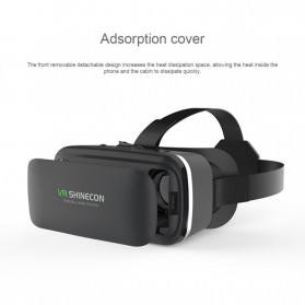 Shinecon 6th Generation 3D VR Box Virtual Reality Glasses for 4.7-6 Inch Smartphone - SC-G04 - Black - 4