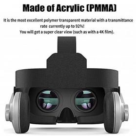 Shinecon 3D VR Box Virtual Reality Glasses 3D Headphone for 4.7-6 Inch Smartphone - SC-G07E - Black - 3