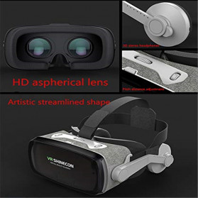 Shinecon 3D VR Box Virtual Reality Glasses 3D Headphone for 4.7-6 Inch Smartphone - SC-G07E - Black - 4