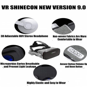 Shinecon 3D VR Box Virtual Reality Glasses 3D Headphone for 4.7-6 Inch Smartphone - SC-G07E - Black - 5