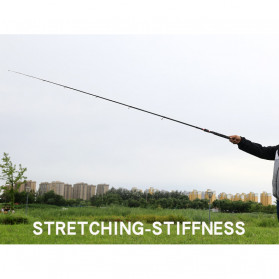 GHOTDA Joran Pancing Portable Telescopic Carbon Fiber Fishing Rod 2.1 Meter - G011 - Black - 10