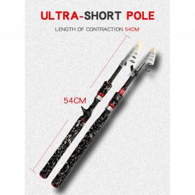 GHOTDA Joran Pancing Portable Telescopic Carbon Fiber Fishing Rod 2.1 Meter - G011 - Black - 5