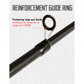 GHOTDA Joran Pancing Portable Telescopic Carbon Fiber Fishing Rod 2.1 Meter - G011 - Black - 6