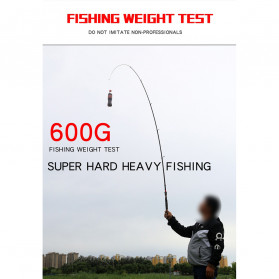GHOTDA Joran Pancing Portable Telescopic Carbon Fiber Fishing Rod 2.1 Meter - G011 - Black - 9