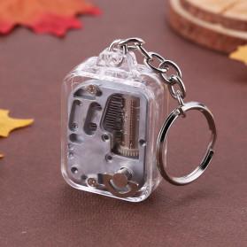 VKTECH Gantungan Kunci Kotak Musik DIY 18 Tones Mechanical Metal Music Box Keychain - MBB18 - Silver
