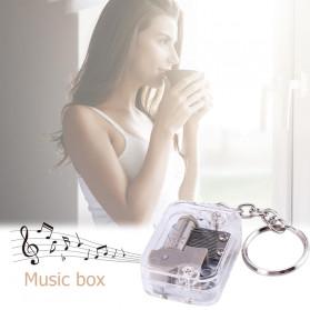 VKTECH Gantungan Kunci Kotak Musik DIY 18 Tones Mechanical Metal Music Box Keychain - MBB18 - Silver - 2