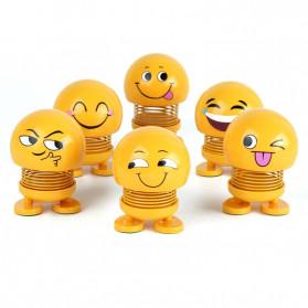 VOLTOP Boneka Per Emoji 3D Kepala Goyang Dashboard Mobil 1 PCS - 99688 - Yellow