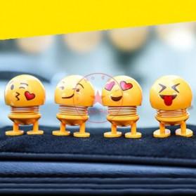 VOLTOP Boneka Per Emoji 3D Kepala Goyang Dashboard Mobil 1 PCS - 99688 - Yellow - 2