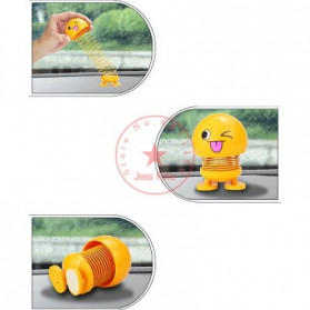 VOLTOP Boneka Per Emoji 3D Kepala Goyang Dashboard Mobil 1 PCS - 99688 - Yellow - 3
