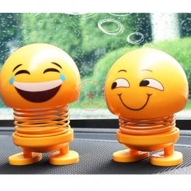 VOLTOP Boneka Per Emoji 3D Kepala Goyang Dashboard Mobil 1 PCS - 99688 - Yellow - 5