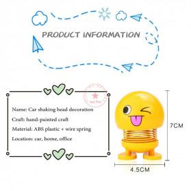 VOLTOP Boneka Per Emoji 3D Kepala Goyang Dashboard Mobil 1 PCS - 99688 - Yellow - 6