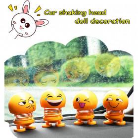 VOLTOP Boneka Per Emoji 3D Kepala Goyang Dashboard Mobil 1 PCS - 99688 - Yellow - 7