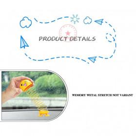 VOLTOP Boneka Per Emoji 3D Kepala Goyang Dashboard Mobil 1 PCS - 99688 - Yellow - 8