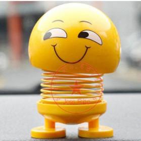 VOLTOP Boneka Per Emoji 3D Kepala Goyang Dashboard Mobil 1 PCS - 99688 - Yellow - 9