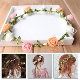 ZQNYCY Dekorasi Hiasan Cafe Wedding Ranting Daun Handmade DIY Artifical Leaves 20m - BB481 - Green - 2