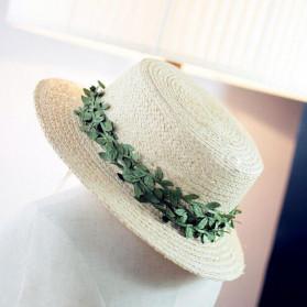 ZQNYCY Dekorasi Hiasan Cafe Wedding Ranting Daun Handmade DIY Artifical Leaves 20m - BB481 - Green - 4
