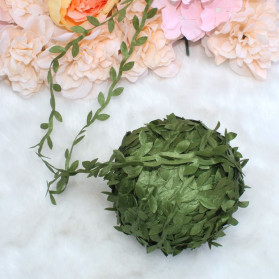 ZQNYCY Dekorasi Hiasan Cafe Wedding Ranting Daun Handmade DIY Artifical Leaves 20m - BB481 - Green - 8