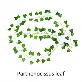 PULCHRITUDE Dekorasi Hiasan Cafe Wedding Ranting Daun Menjalar Artificial Parthenocissus Leaf 2M - BB480 - Green