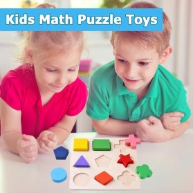 Diikamiiok Mainan Balok Puzzle 3D Geometry Anak - TOY09 - Red