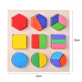 Diikamiiok Mainan Balok Puzzle 3D Geometry Anak - TOY09 - Red - 10