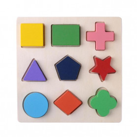Diikamiiok Mainan Balok Puzzle 3D Geometry Anak - TOY09 - Red - 2