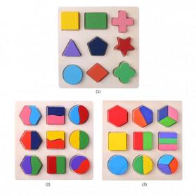 Diikamiiok Mainan Balok Puzzle 3D Geometry Anak - TOY09 - Red - 4